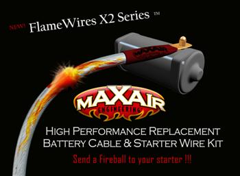 maxair engineering llc flamewires x2 series yamaha road star yamaha road star replacement battery starter cables mvte product